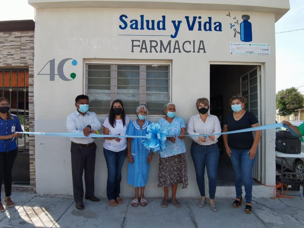 Las autoridades de Ciénegas inauguraron la Farmacia Salud y Vida
