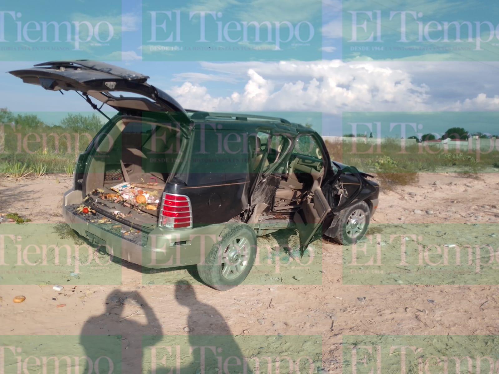 Mujer embarazada se vuelca en Frontera con sus dos hijas y resultan lesionadas