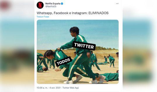 Netflix reacciona a la caída de Instagram y Facebook con meme