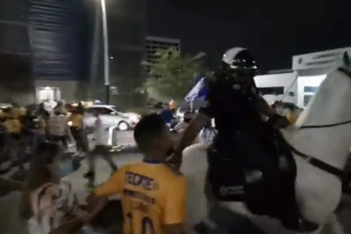 Denuncian caso de abuso policiaco contra aficionado de Tigres