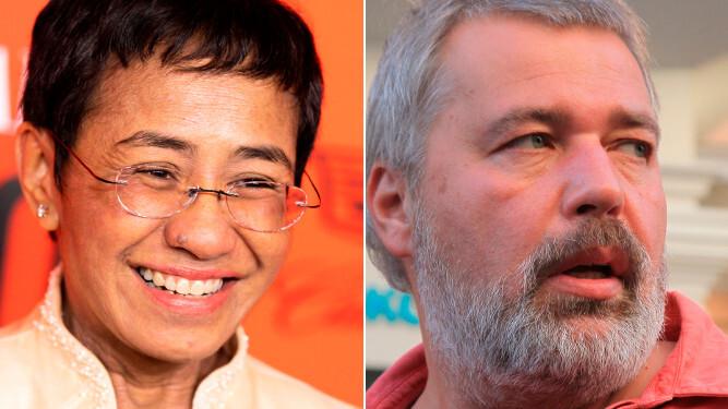 Nobel de la paz para periodistas filipina Maria Ressa y ruso Dmitry Muratov