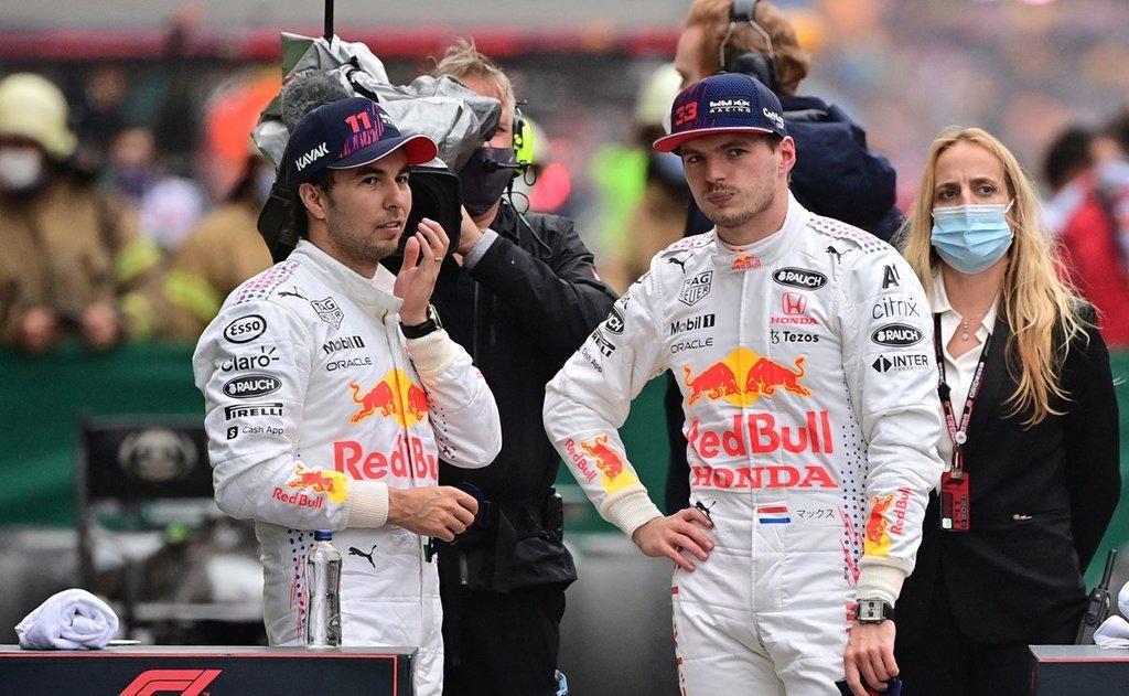 'Checo' Pérez bromea con Verstappen tras vencer a Hamilton