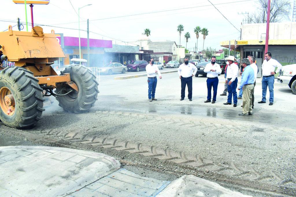 La calle Madero del centro de Frontera es pavimentada
