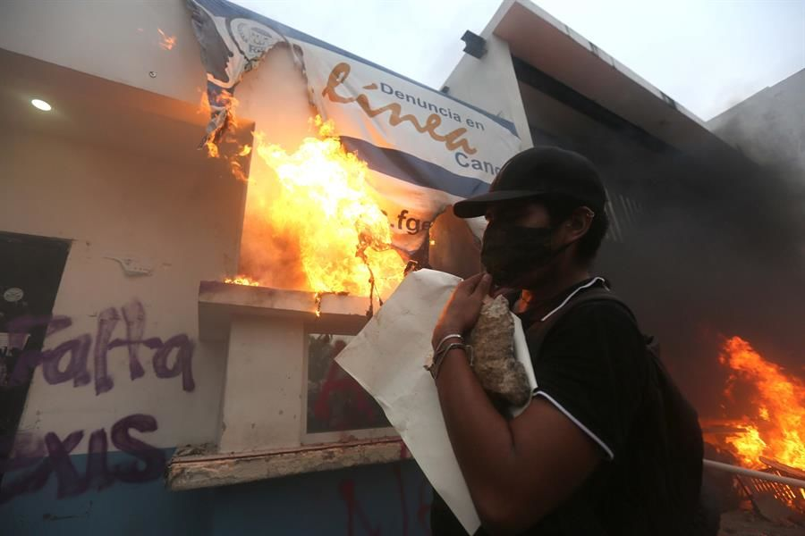 Protesta feminista en Cancún