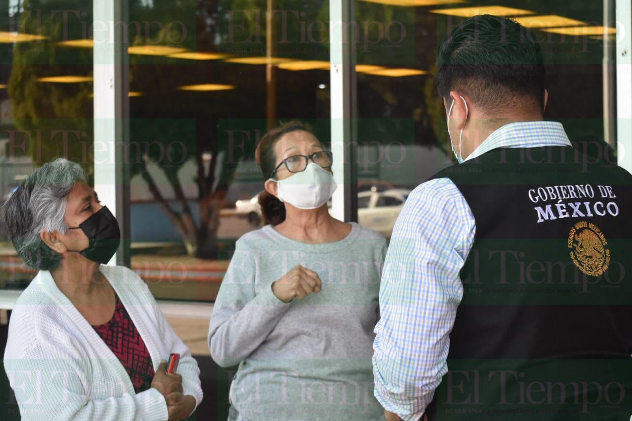 Vacunación de adultos mayores en Monclova