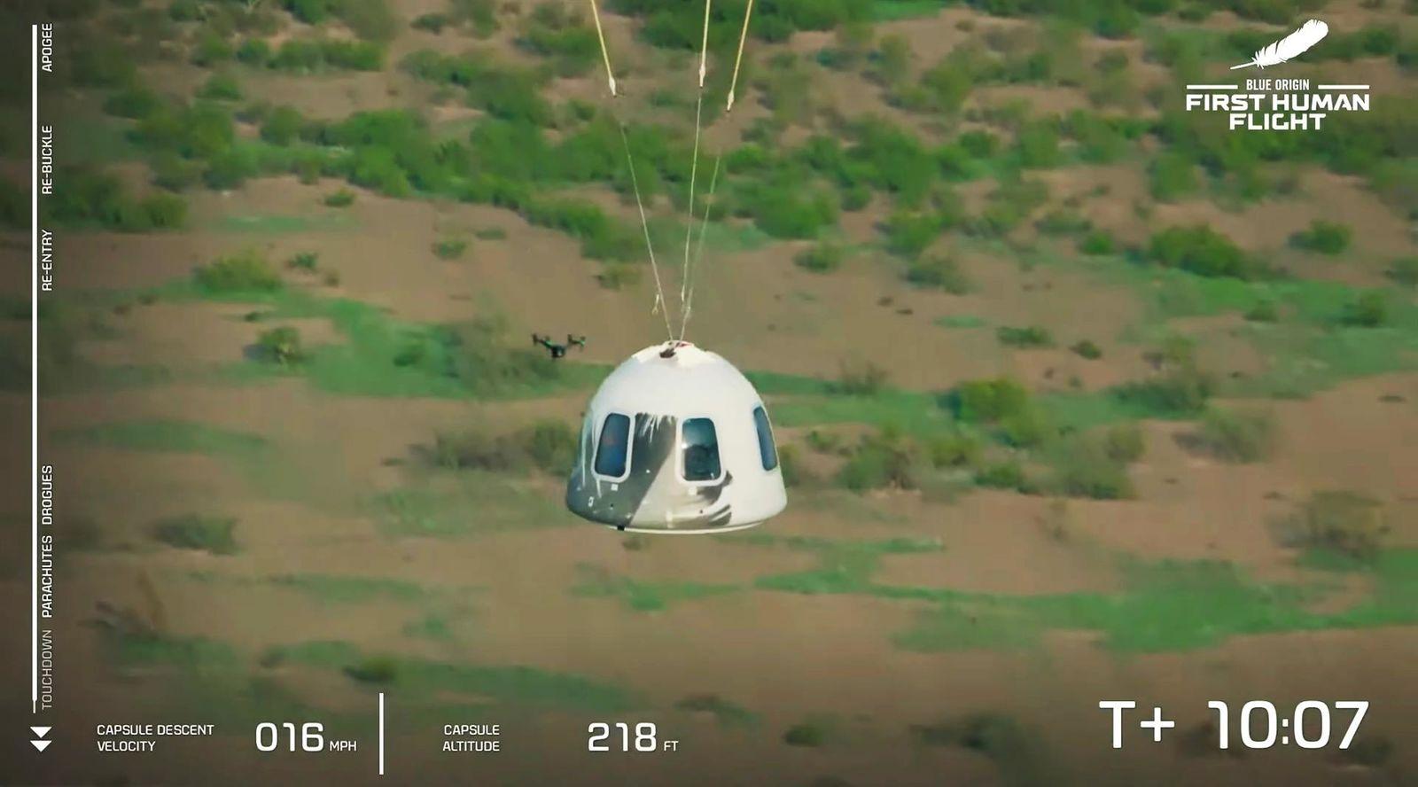 Jeff Bezos vuelve a la tierra