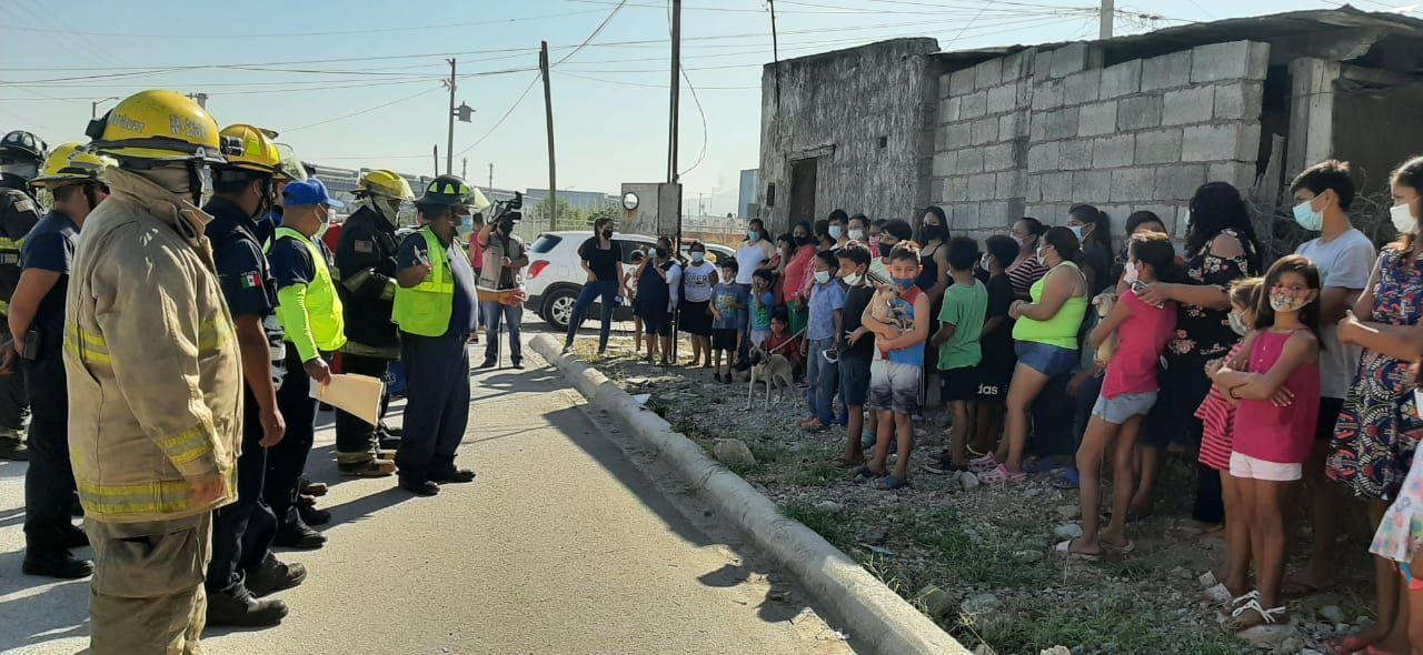 Evacuan a 50 familias del fraccionamiento Calderón por simulacro en AHMSA