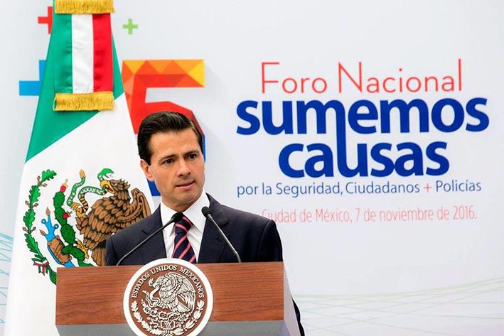 Peña Nieto llama a sociedad y gobierno a establecer agenda de…