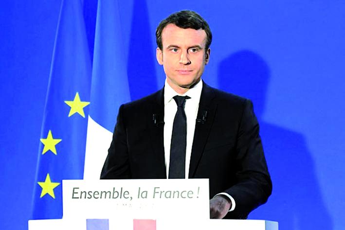 Macron promete trabajar por la unidad de Francia y de Europa