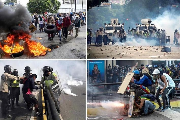 Opositores desafían a Maduro por octava semana en Venezuela
