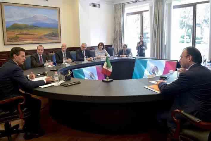 Peña Nieto se reúne con Europarlamentarios y abordan Acuerdo Global