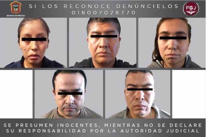 Detienen a cinco policías acusados de secuestro en el Edomex
