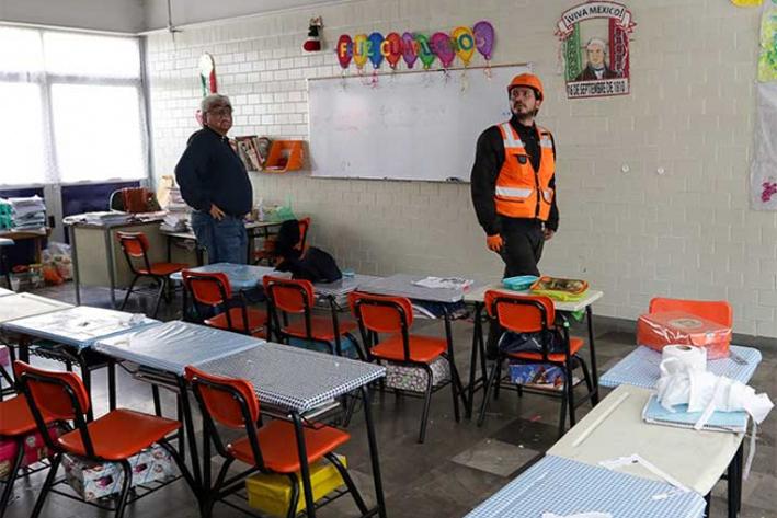 6 de noviembre regreso a clases al 100% tras sismos — Nuño