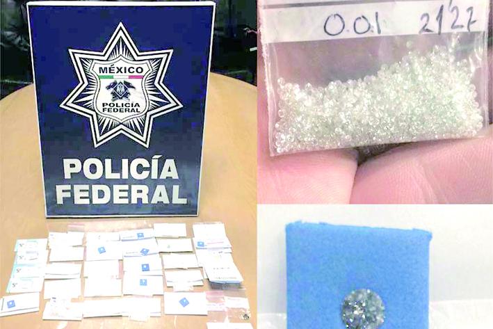 Detienen a ciudadano español con 11 mil 500 diamantes en el AICM