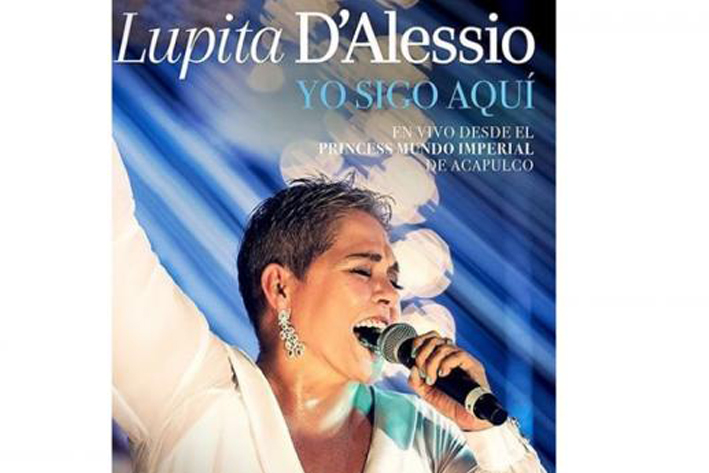 Presenta Lupita D'Alessio su primer disco en vivo