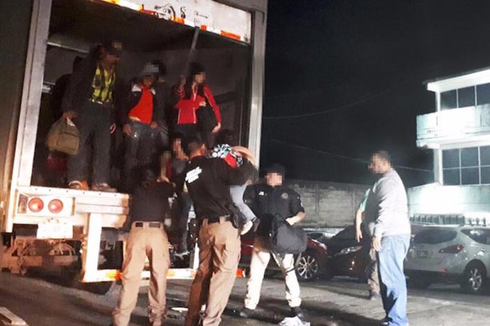 Más de cien migrantes indocumentados interceptados en México
