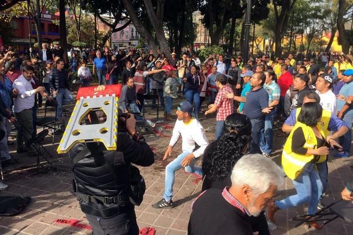 Arman zafarrancho simpatizantes de Morena y PRD en Coyoacán