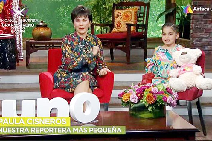 La niña Paula Cisneros es la nueva integrante de