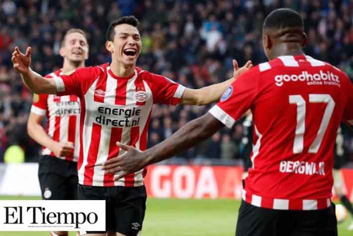 Con doblete y asistencia del Chucky, PSV goleó al Heerenveen