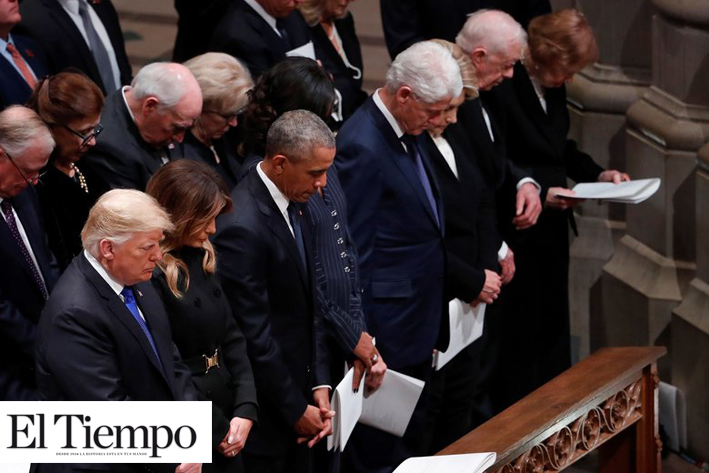 Dirigentes de todo el mundo se despiden al expresidente de EU George H. W. Bush