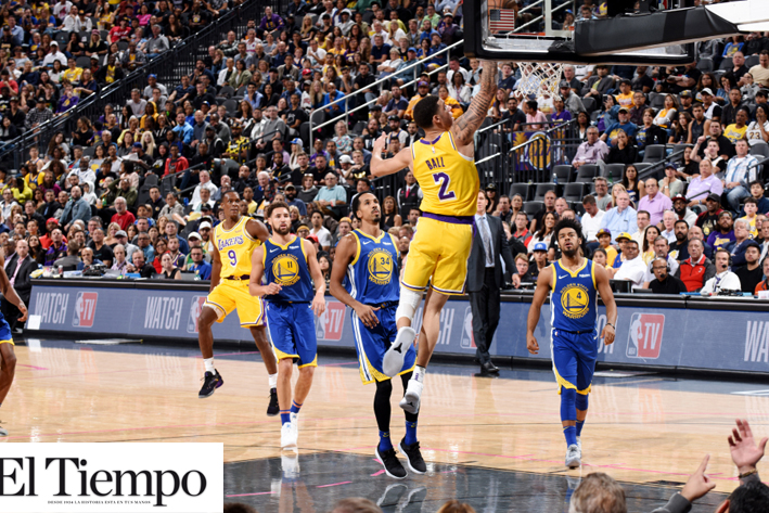 101-127.Kuzma lidera exhibición de Lakers, con James lesionado, ante Warriors