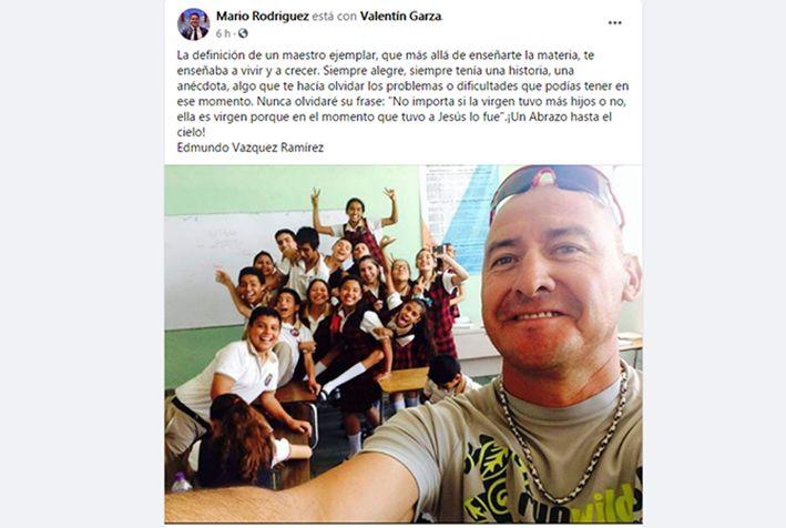 Consterna muerte del Profr. Edmundo Vázquez Ramírez